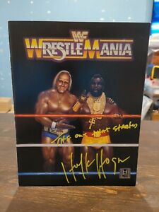 WWF WrestleMania 1 autographed Souvenir Program Hulk Hogan Mr. T VTG Original