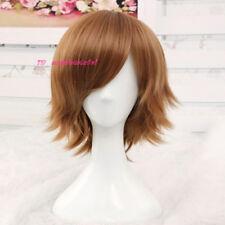 Peluca de disfraz Cosplay corta marrón Pichón Pelucas + un casquillo de la peluca