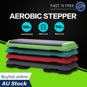 3-Level Aerobic Step Bench Home Gym Workout Fitness Exercise 2 / 4 Block Stepper