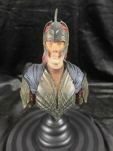 """SIDESHOW WETA LORD OF THE RINGS THE TWO TOWERS """"GALADHRIM SOLDIER BUST STATUE AP"""