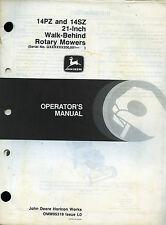 "PUBBLICITA' *JOHN DEERE "" 14PZ and 14SZ 21- Inch Walk-Behind Rotary Mowers """