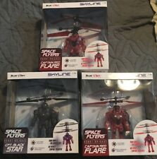 (3) Brand NEW Sealed Blue Sky Wireless Space Flyers Robot Brigade Gray Red Set