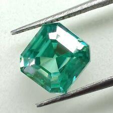 Cut Loose Moissanite Diamond 4 Ring 1.56 Ct 6.84x6.46mm Vvs1 Green Asscher Fancy