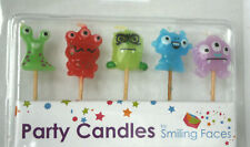 Monsters - Birthday Candles - Pack of 5 - Brand New