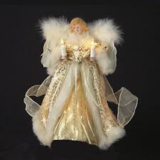 Gold Angel Light Up Christmas Tree Topper Decoration Kurt Adler UL1082 New