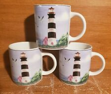 "Thomson Pottery LIGHTHOUSE Mug set of 3, 3 5/8"", Excellent"