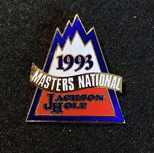 JACKSON HOLE 1993 MASTERS NATIONAL Skiing Ski Pin WYOMING Souvenir Travel Lapel