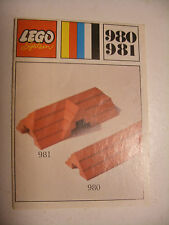 70' RARE anciene notice ORIGINALE instruction manual Lego System Legoland n°980