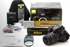 Nikon D D5500 24.2MP Digital SLR Camera Black w/ VR II 18-55mm Lens Kit *N MINT*