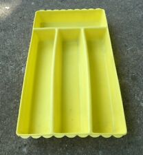 Vintage Blisscraft Of Hollywood Yellow Silverware Flatware Tray Drawer Organizer