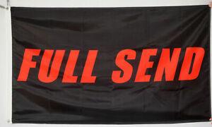 FULL SEND Flag 3x5 ft BLACK / RED Background Nelk Boys USA