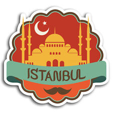 2 x 10cm Istanbul Turkey Travel Vinyl Stickers - Sticker Laptop Luggage #19531