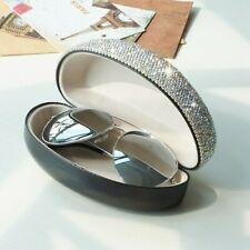 Shiny Bling Rhinestone Portable Travel Sunglasses Hard Case Eyes Glasses Box Bag