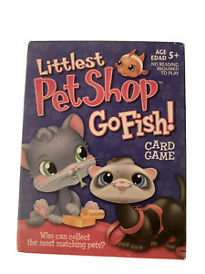 Littlest Pet Shop Go Fish Card Game LPS 52 Cards Box Instructions Used