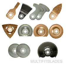 12pc Oscillating Multi Tool Tile & Grout Kit - Fein Multimaster Compatible