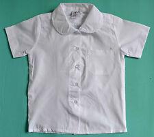 NEW Girl Short sleeve School Formal shirt WHITE size 5,6,8,10,12,14,16