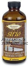 SIRIO VERNICE TRASPARENTE BRILLANTE A STRISCIO ML250 CON RESINA GOMMALACCA ALCOL
