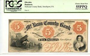 $5   McKean County Bank. Pennsylvania    PCGS 55 PPQ