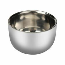 Stylish Men's Shaving Soap Bowl Stainless Steel High Quality Double Layer Mug