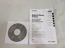 Sony Digital Photo Frame (D)1020/1010/820/810/720/710/700 Manual and CD