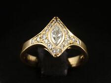 Attraktiver Navette Brillant Ring ca. 0,58ct 750/- Rotgold Ringweite 52