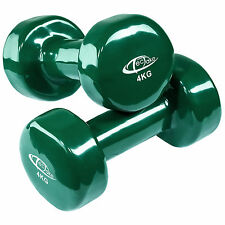 2 x 4 kg Vinyl Coated Dumbbells Set Aerobics Weights Training Fitness Ladies