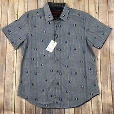 "Robert Graham  ""Dittmer"" Skull Short Sleeve Shirt Classic Fit XL $178 NWT"