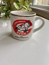 Vintage Cincinnati Reds 1990 World Series Champions Gold Ring Mug & Print