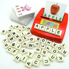 So Easy! Kids Learning English Card Word Scrabble Teach Educational Toy Fun Gift