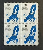 Block of 4 – Brexit postage stamp Austria 31.1.2020 special issue 140.000pcs
