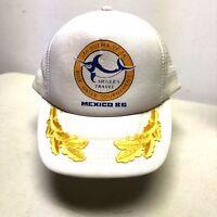 Mexico 86 Siegle's Trucker Hat Cap Snapback Gold Leaves Scrambled Eggs 80s