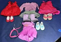 (4) American Girl Doll Outfits w/ Accessories Lot - Clothes - Dresses Shoes Etc