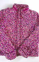 Voyage De Rita Jacket Fits Womens Medium Lined Floral Zippered Pockets Filled