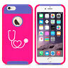 For iPhone X XS Max XR 6s 7 8 Plus Shockproof Hard Case Heart Stethoscope Nurse