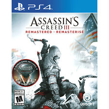Assassin's Creed III: Remastered PS4 [Brand New]