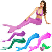 Sequined Swimmable Mermaid Tails Monofin Flippers Cosplay Dress Swimming Costume