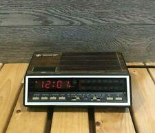 Vintage GE Alarm Clock Radio Model 7-4616B Two Wake Times Red LED Digits - Works