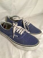 VANS OF THE WALL MENS TRAINERS SIZE UK7 BLUE.  VGC (15/6)