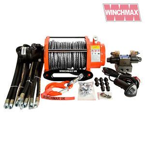 Hydraulik Winde 4536kg WINCHMAX Original Orange Winde + Dyneema Seil Synthetisch