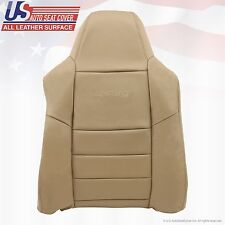 2002 ~ 07 Ford F250 F-350 Super Duty Driver Lean Back Leather Seat Cover Med Tan