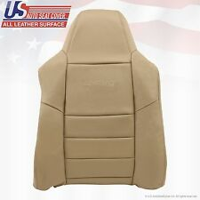 2002 - 07 Ford F250 F-350 Super Duty Driver Top Lean Back Leather Seat Cover Tan
