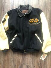 Honda 50 Anniversary leather jacket Letterman LE VINTAGE 1998 Black Cream Men XL