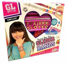 Childrens Girls Design Make Your Own Bracelet Slider Bands Jewellery Kit R030061