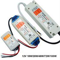 LED Vorschaltgerät Trafo 18 28 48 72 100 W Netzteil Adapter Transformator 12V DC