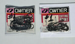 Owner Hooks - 2 Double Packs - Size # 1 -  Hooks, - Fishing Tackle, 20 Count