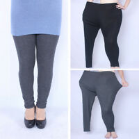 Women Winter Warm Thick  Fleece Lined Thermal Stretchy Leggings Pants Plus Size