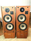 Realistic Optimus T-100 Vintage Tower Speakers 1 Owner W/ Manual Nice Condition
