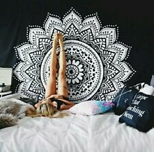 Indian Mandala Ombre Tapestry Wall Hanging Hippie Gypsy Bedspread Cotton Sheet D