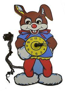 Helmut Kammerer Rabbit Clock West Germany Vintage Cartoon Character Eyes Cuckoo