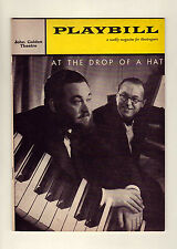 At the Drop of a Hat - 1959 Playbill for John Golden Theatre - Michael Flanders